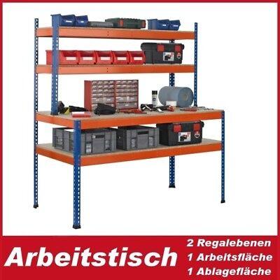 Packtisch/Arbeitstisch 198x153x77 cm mit Aufbau, Industriequalität, Neuware