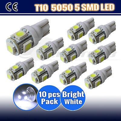10 X T10 5 LED LIGHT 5050 SMD LED PARKER LIGHT /WEDGE LIGHT -ULTRA BRIGHT WHITE