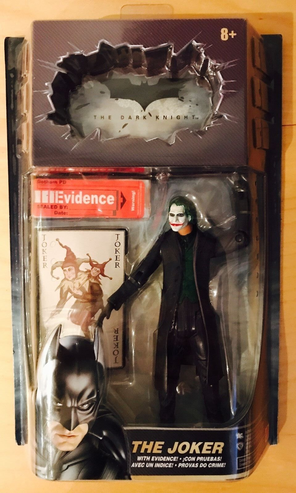 RARE Mattel DC The Dark Knight the Joker with Evidence Collectible MISB