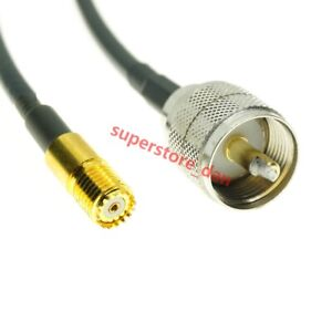 20 inch Jumper HAM US Made RG58 PL259 Male SO239 Female Connectors Coaxial Cable