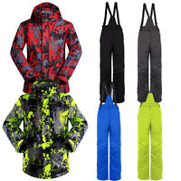 Men's Waterproof Windproof Coat Jacket Pants Ski Suits Snowboard Snowsuits