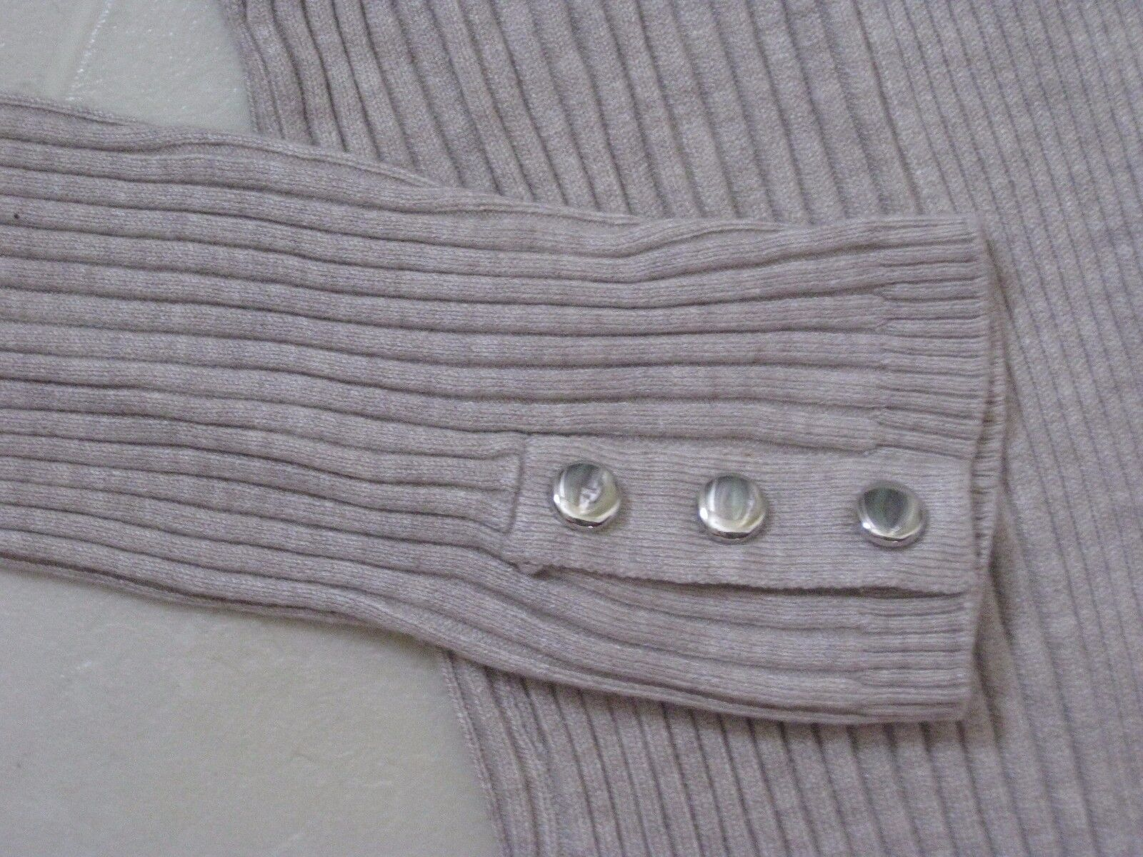 Style & & & Co. Long Sleeve Top   Sweater with Stud Detail at Sleeve Ends   S   New b3eb05