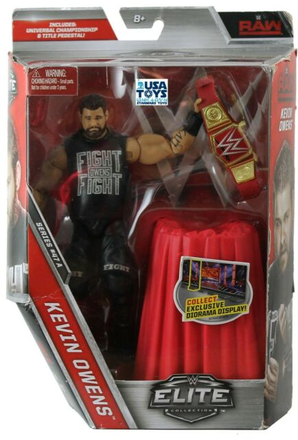 RAW KEVIN OWENS Elite Collection Mattel WWE Action Figure Universal Championship