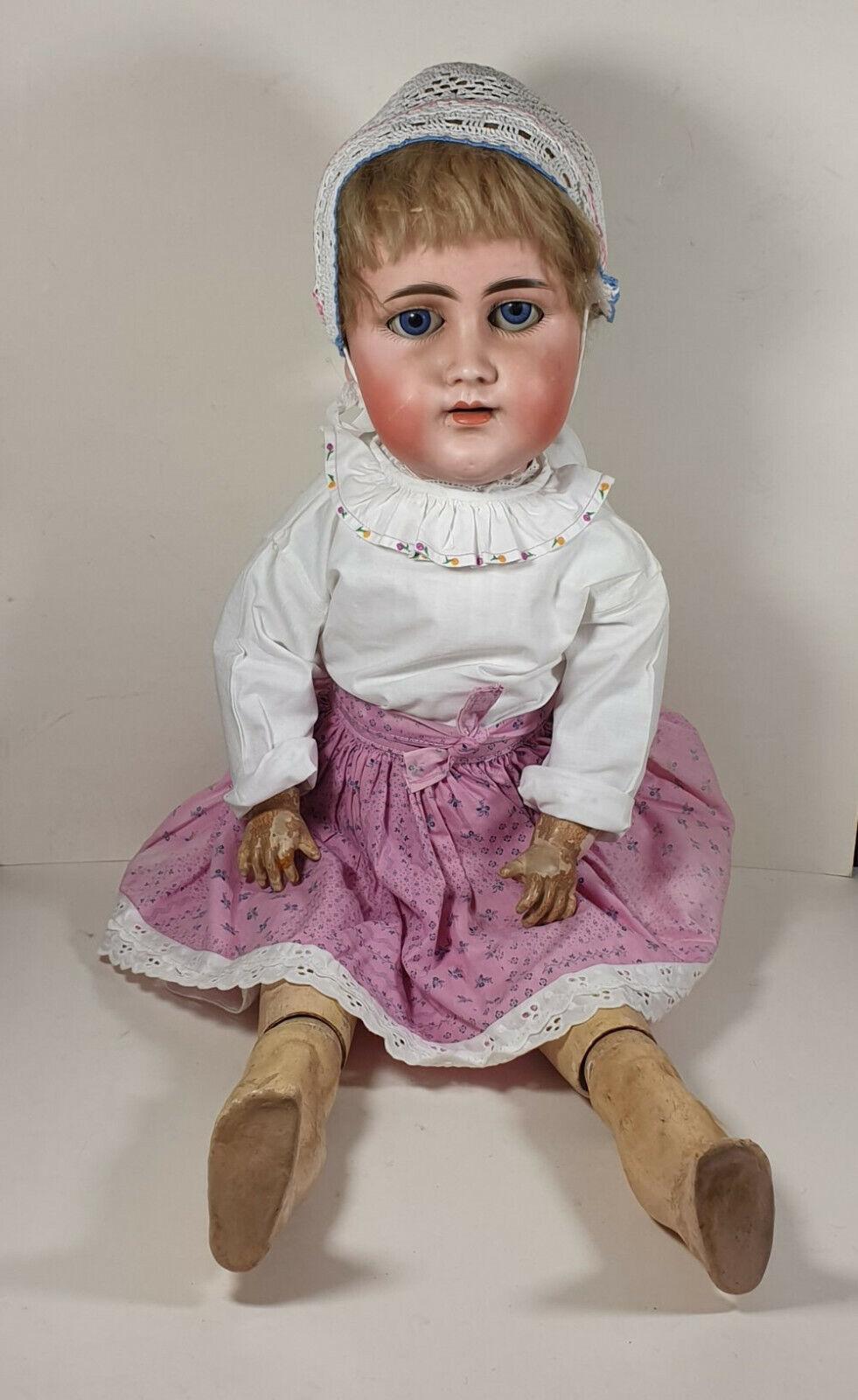Alte antike Puppe 70 cm groß, Kugelgliedmaße von Kämmer & Reinhardt