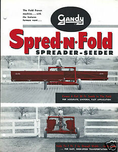 Details about Farm Equipment Brochure - Gandy - Spred-N-Fold - Spreader  Seeder (F4380)