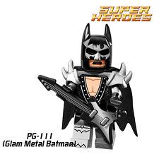 Glam metal Batman custom minifigure Lego fittable building toy Batman movie set
