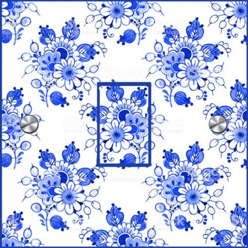 Uk Novo Delft Azul Adesivos De Interruptor De Luz