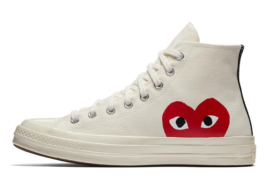 NIB*Converse X Comme de Garcons*Mens*Off White high Top**4-12*Sneaker*Unisex