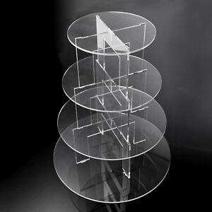 4-Tier Round Acrylic Plastic Cake Stand