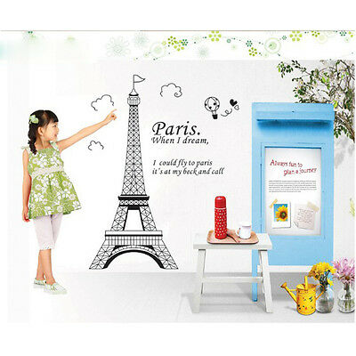 NEW Paris Eiffel Tower Removable Vinyl Art Decal Mural Home Wall Sticker Decor
