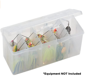 Plano Stowaway Spinner Bait Box Premium Tackle Storage for Fishing 5 Compartment