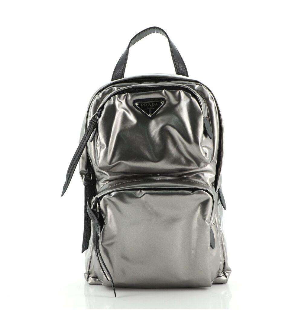 Prada Sling Backpack Metallic Tessuto    eBay