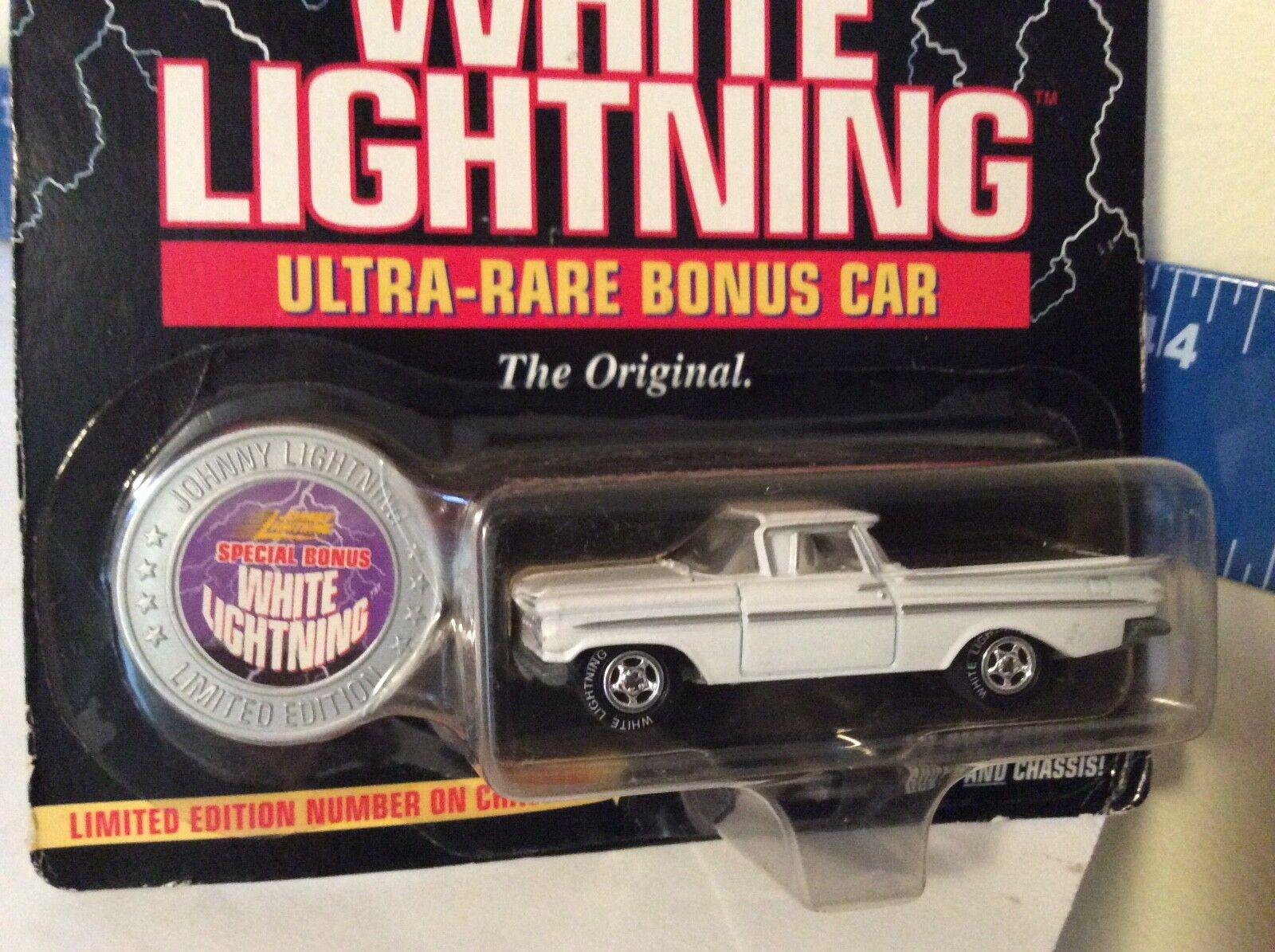 1959 el Camino Ultra Raro Bono Coche blanco Lightning Persecución Persecución Persecución Johnny 1 64 fcd551