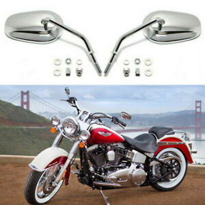 For Harley Davidson Softail 2005-2016 Motorcycle Rearview Mirrors Chrome