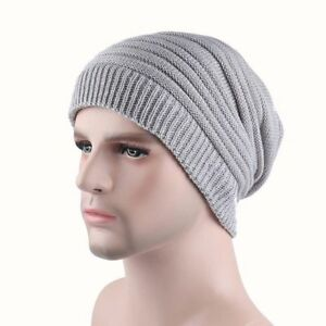 b73fe7e1af8 Details about Men s Women s Knit Baggy Beanie Oversize Fashion Winter Hat  Ski Slouchy Chic Cap