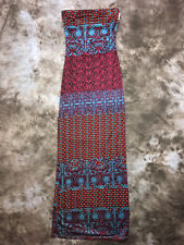 NWOT HALE BOB 100% SILK STAR TUBE MAXI DRESS X SMALL