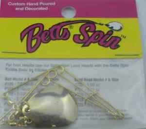 Betts 30-3-3G Size 3 Gold Jig Spinner 3Pk 12648