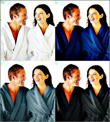Unisex/mans/woman 100% Cotton Toweling Bath Robe Gown (small/medium/large/x-lar)