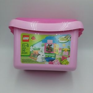 Lego-Duplo-4623-Missing-6-With-6-Extra-For-30-Pieces-Total-Bunnies-Rabbit-Pink