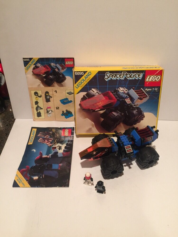 Vintage LEGO Spy-Trak 1   6895 100% Complete with Minifig, Instructions, & BOX