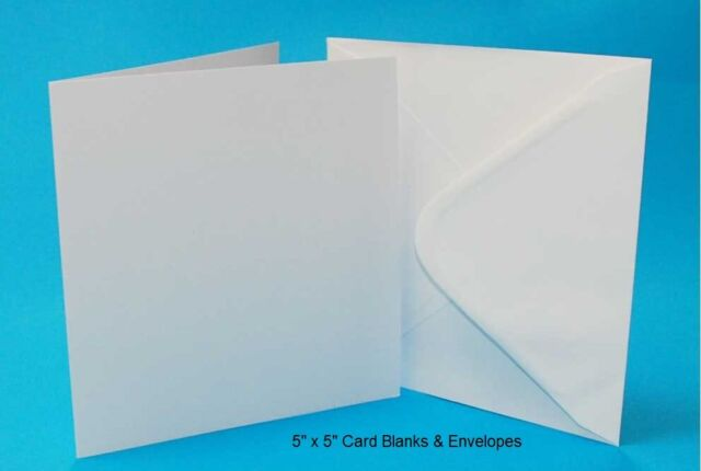 Craft UK 289 5 x 7 inch Card and Envelope pack of 50 White
