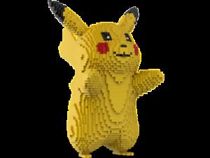 LEGO Pikachu statue building instruction - Pokemon