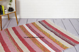 Details About 4 X 6 Ft Colorful Woven Chindi Braided Area Decorative Rag Rug Indian Bohemian
