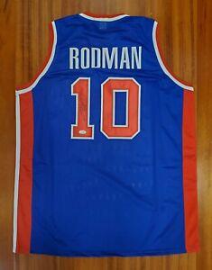 info for 7ed6c fe9e2 Details about Dennis Rodman Autographed Signed Jersey Detroit Pistons JSA