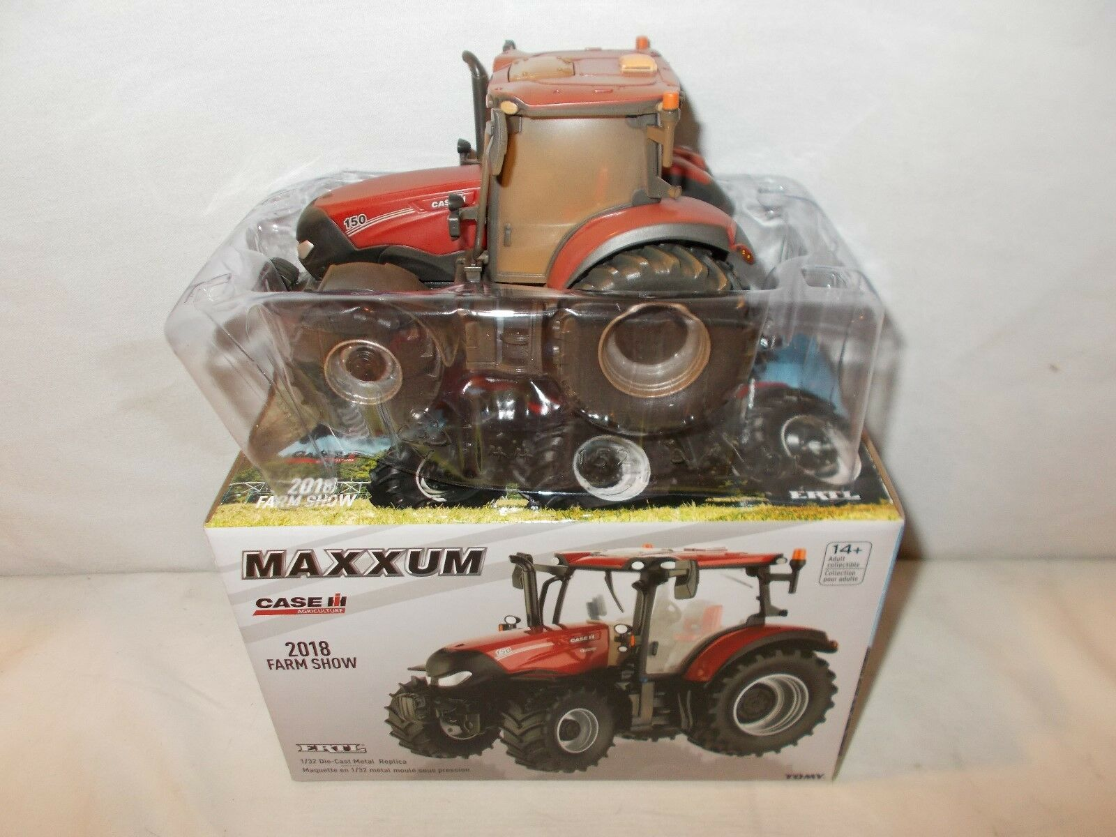 CASE IH 150 Maxxum 2018 Farm Show Dusty MUDDY EDITION BY ERTL échelle 1 32nd