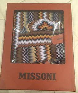 NWT Missoni Designer Fringe Trim Hat   Scarf Set Zig-Zag Set in ... c72c95f37a19