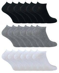 6-Paires-Homme-et-Femme-Coton-Sport-Basses-Courtes-Chaussettes-pour-Sneakers