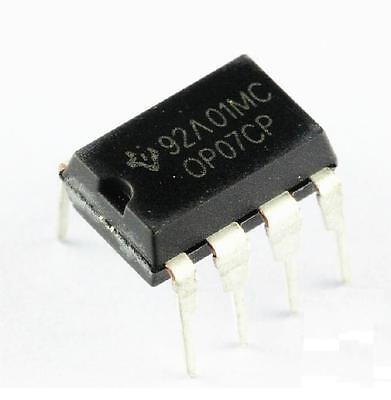 20 PCS OP07 OP07CP IC DIP-8 TI Operational Amplifier NEW