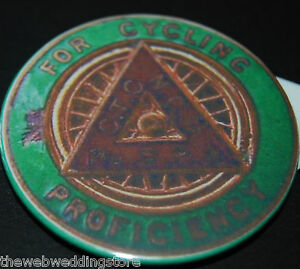 Cycling-Proficiency-Test-Badge-RoSPA-Vintage-Retro-style-Early-edition
