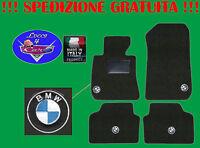TAPPETINI tappeti BMW serie 3 E90 berlina con 4 loghi e battitacco in gomma