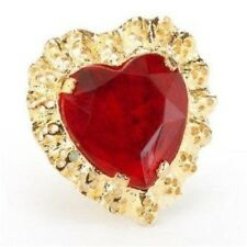 Valentines Day Queen Of Hearts Style Oversize Costume Jewerly Ring