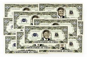 10 Donald Trump Commander-in-chief Usa Fantasy Papier Geld 2016