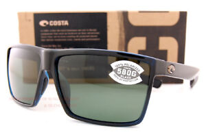 0fbecd36ab Details about Brand New Costa Del Mar Sunglasses RINCON Shiny Black Gray  580G Polarized