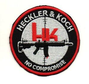 HK Heckler Koch Firearm Pistol Rifle Gun Military P1191 Embroidered Ironon Patch