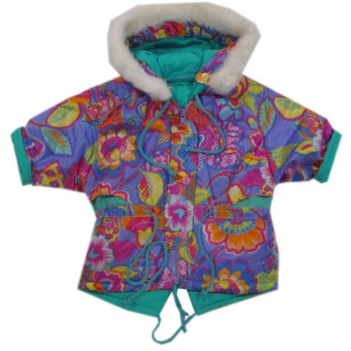 80 nuevo!!! Chaqueta invierno chaqueta multicolor capucha chica talla 74