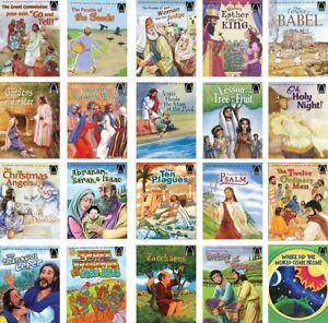 MIXED-LOT-20-Vtg-Arch-Children-039-s-Religious-Bible-Christian-books-RANDOM-titles