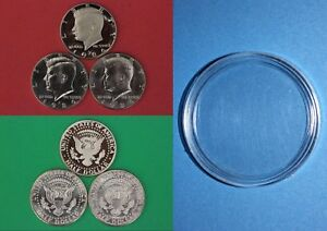 1974 P D Kennedy Half Dollars With 2x2 Snaps from Mint Set Combined Shipping