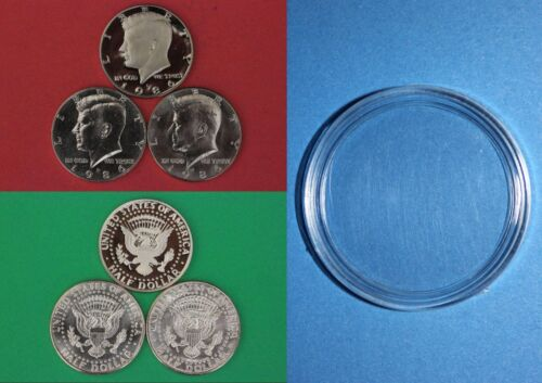 1986 P D S Kennedy Half Dollars With Capsules from Mint Set Combined Shipping