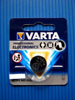 5 x Varta CR 1632 3V Lithium Batterie Knopfzelle 135mAh 6632 im Blister