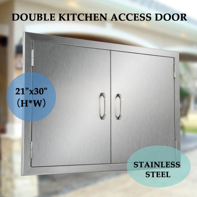 BBQ Island Stainless Steel Access Double Door Outdoor Kitchen 30\
