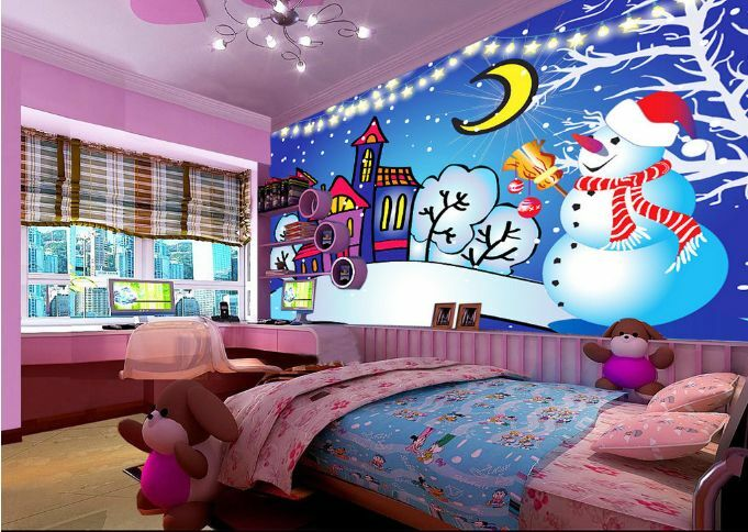 3D Dress Up Snowman City Paper Wall Print Decal Wall Wall Murals AJ WALLPAPER GB