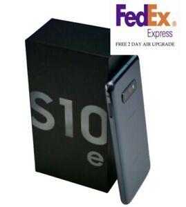 SAMSUNG GALAXY S10E SM-G970U 128GB PRISM BLACK VERIZON UNLOCKED FREE FEDEX 2DAY