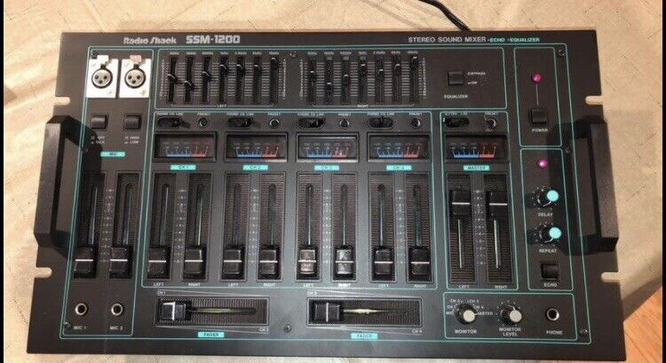 Radio Shack SSM-1200 Stereo Sound Mixer with EFX. Buy it now for 100.00