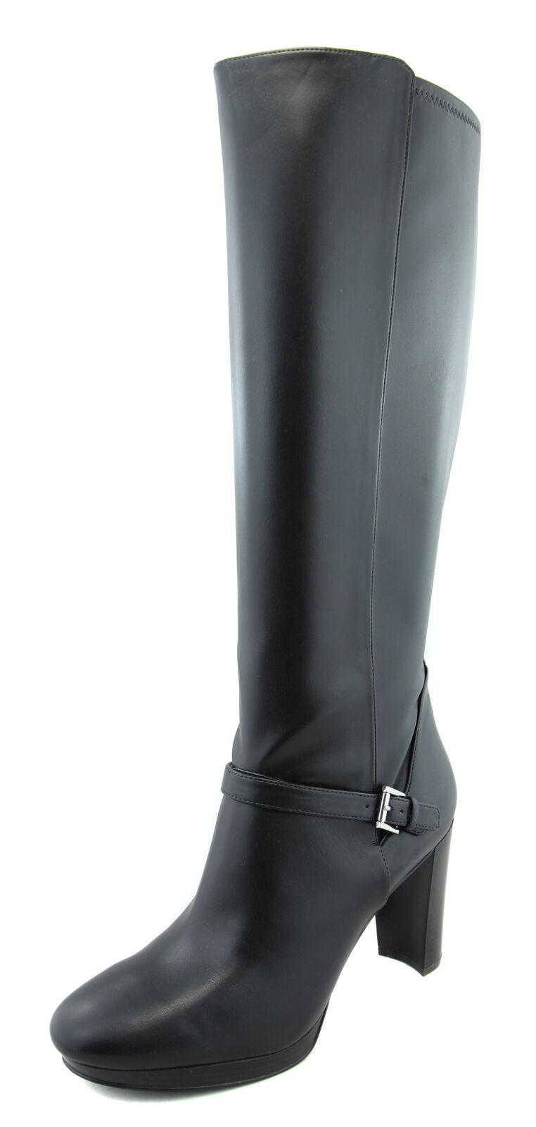 Nine West Para Mujer Vestido Negro Zapatos bota de tacón alto Kacie Ret  Nuevo