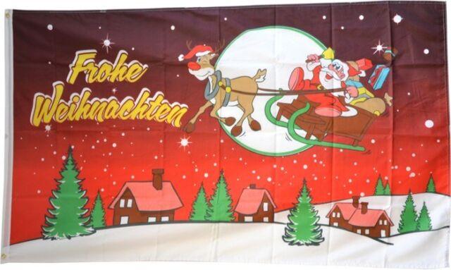 Flagge Fahne Frohe Weihnachten Hissflagge 90 x 150 cm