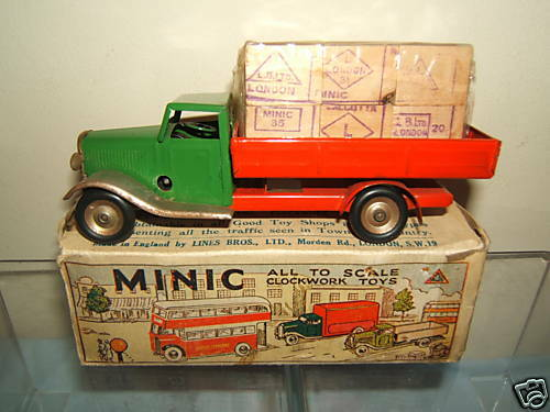 Vintage Tri-ang Minic modelno .25M entrega camión con casos   VN MIB